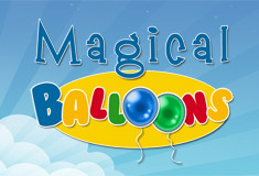 Logo magical balloon